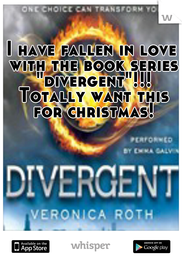 "I have fallen in love with the book series ""divergent""!!! Totally want this for christmas!"
