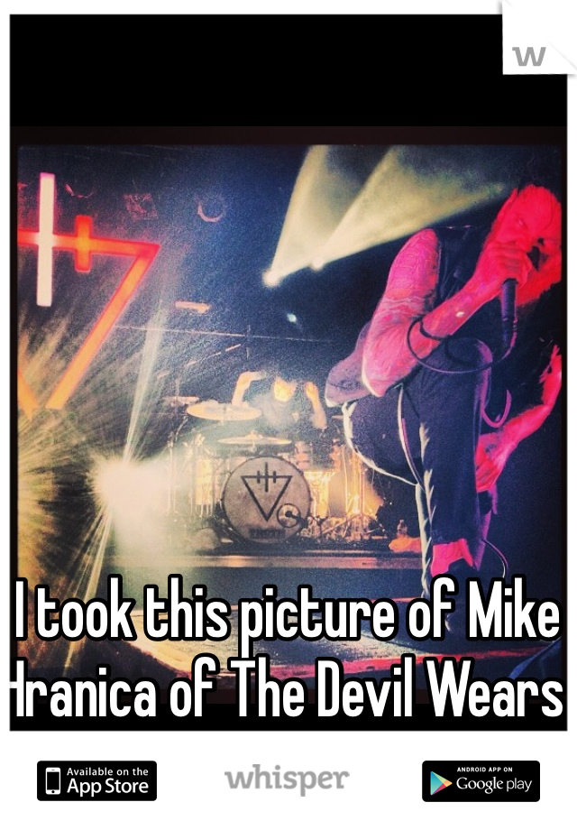 I took this picture of Mike Hranica of The Devil Wears Prada last year.