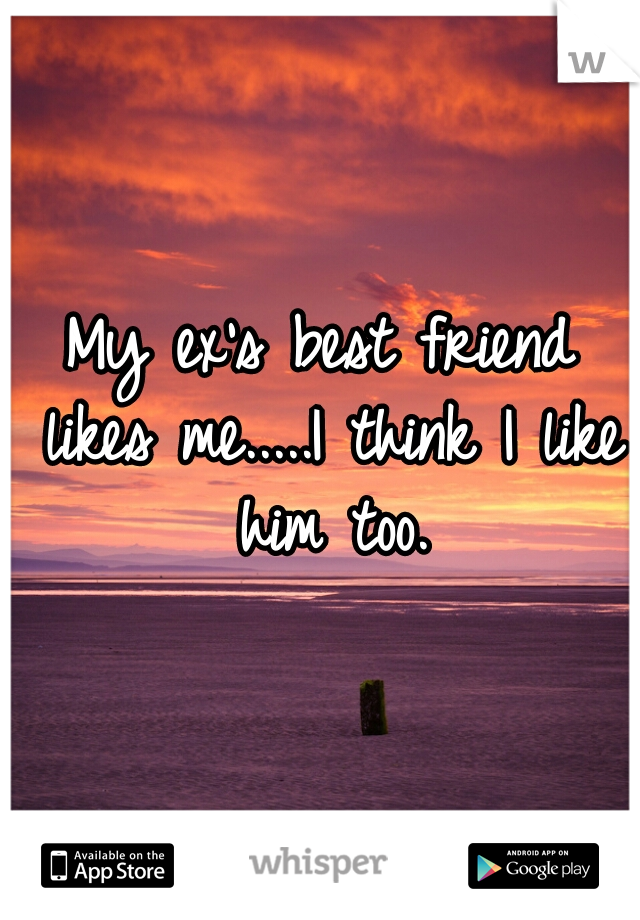 My ex's best friend likes me.....I think I like him too.