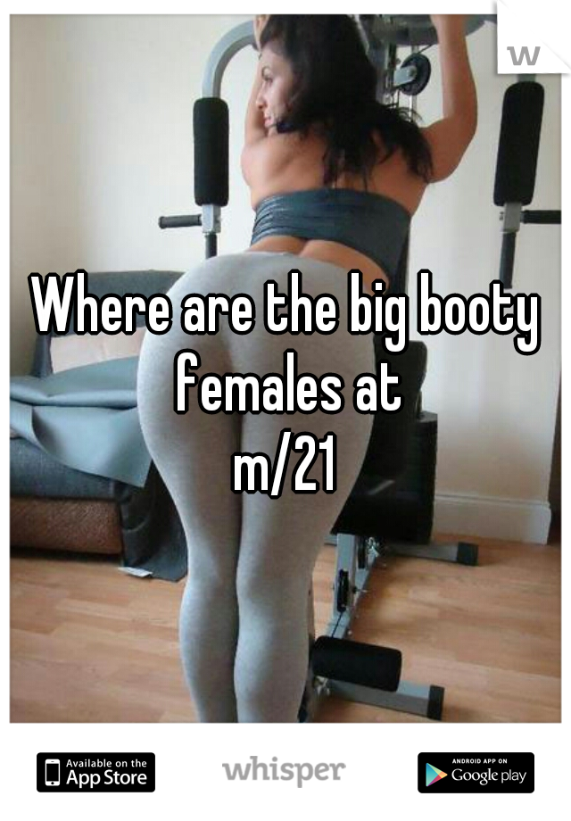 Where are the big booty females at m/21