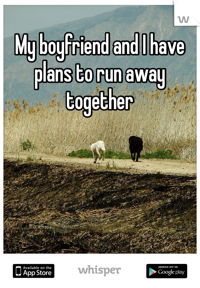 My boyfriend and I have plans to run away together