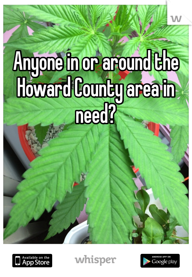 Anyone in or around the Howard County area in need?
