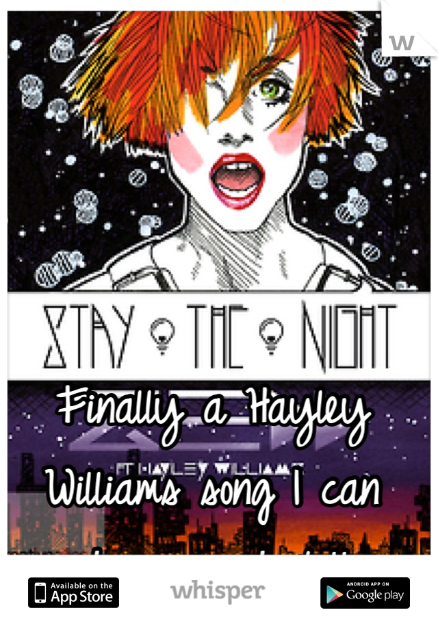 Finally a Hayley Williams song I can choreograph to!!