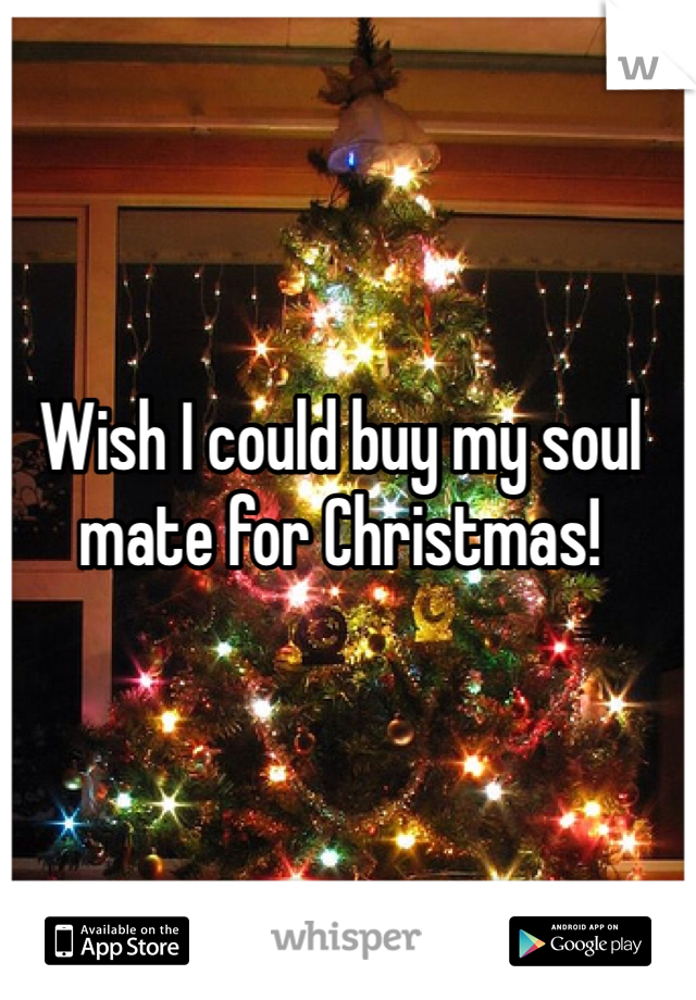 Wish I could buy my soul mate for Christmas!