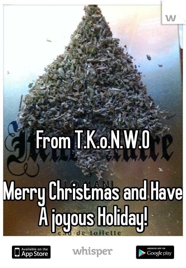 From T.K.o.N.W.O  Merry Christmas and Have A joyous Holiday!