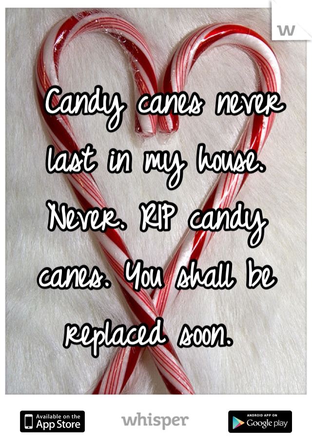 Candy canes never last in my house. Never. RIP candy canes. You shall be replaced soon.