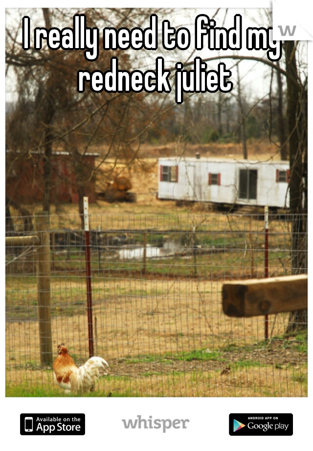 I really need to find my redneck juliet