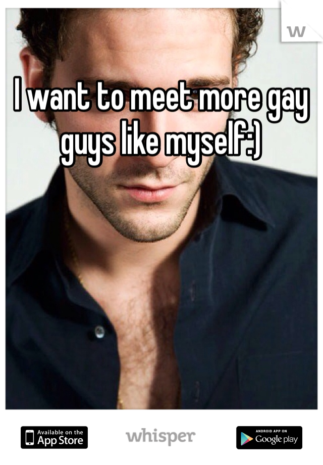 I want to meet more gay guys like myself:)