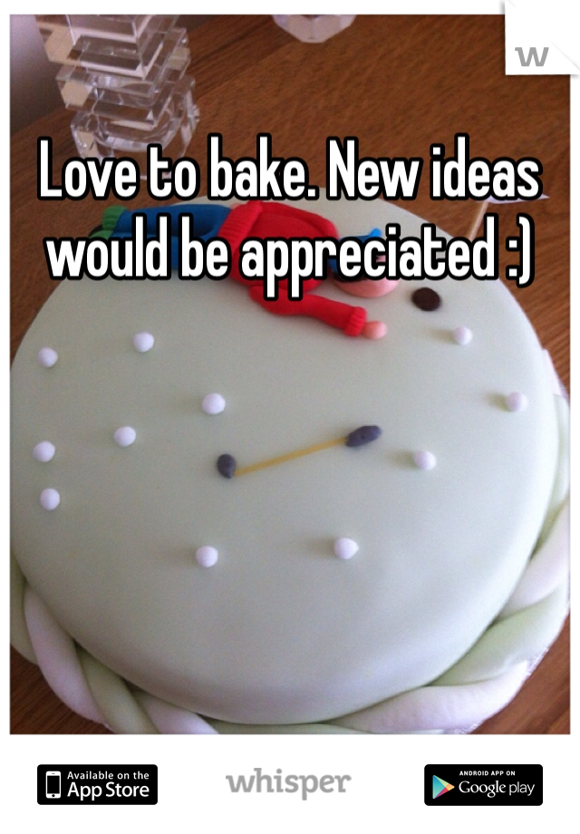 Love to bake. New ideas would be appreciated :)