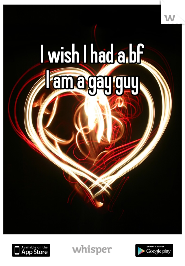 I wish I had a bf I am a gay guy