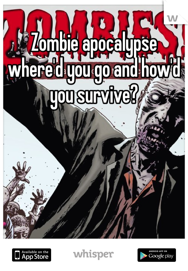 Zombie apocalypse where'd you go and how'd you survive?