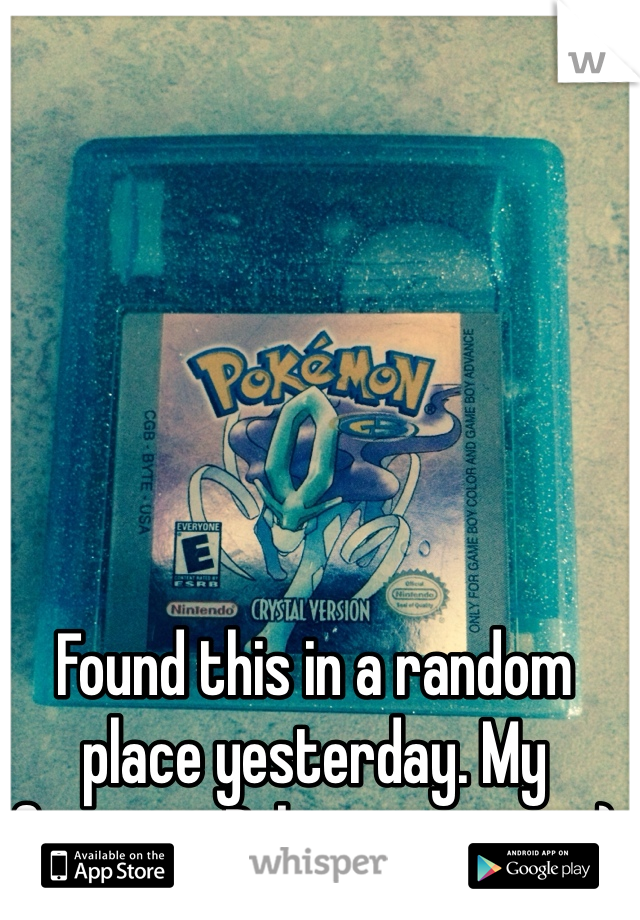 Found this in a random place yesterday. My favorite Pokemon game. :)