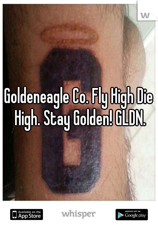 Goldeneagle Co. Fly High Die High. Stay Golden! GLDN.