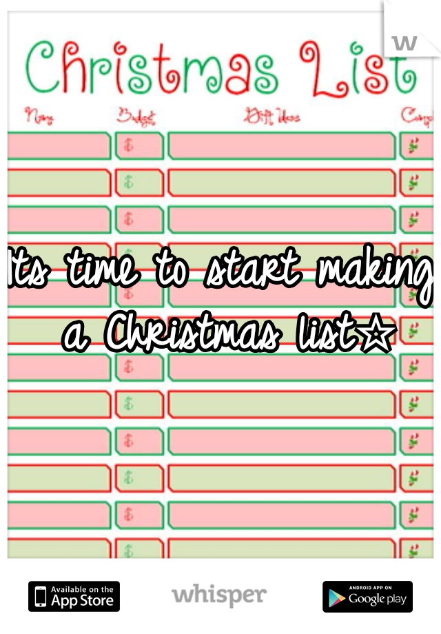 Its time to start making a Christmas list☆