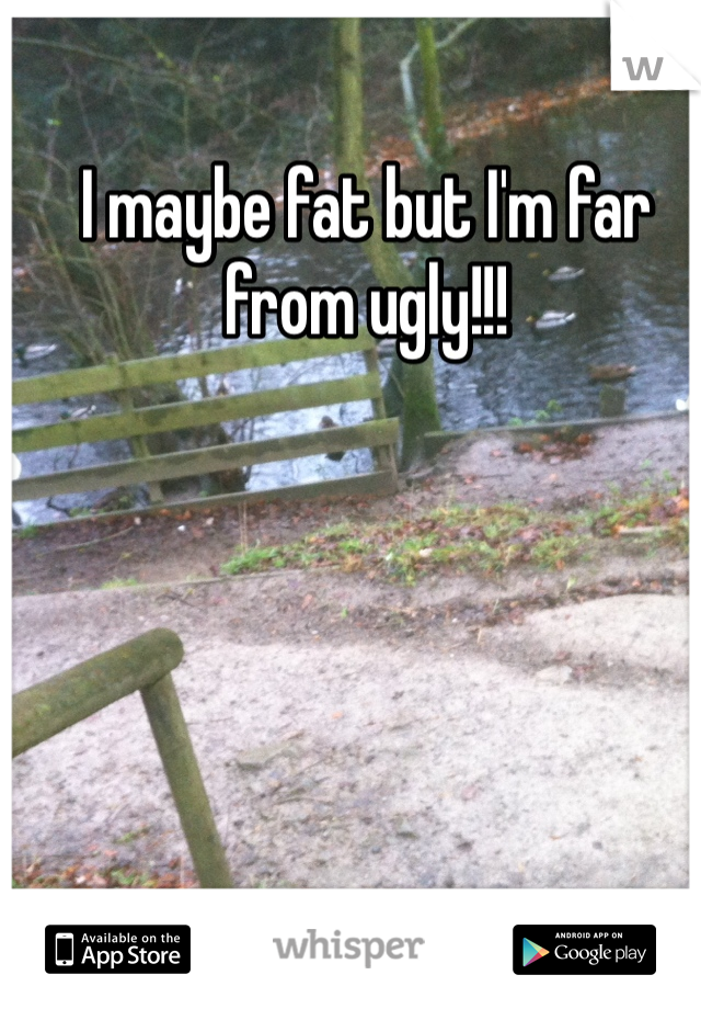 I maybe fat but I'm far from ugly!!!