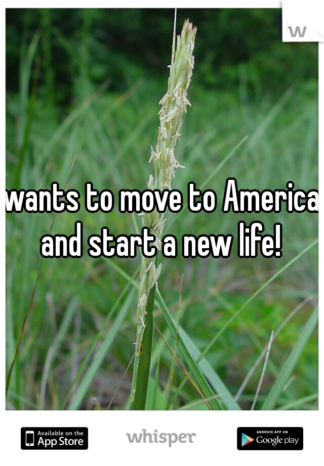 wants to move to America and start a new life!