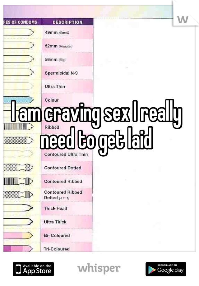I am craving sex I really need to get laid