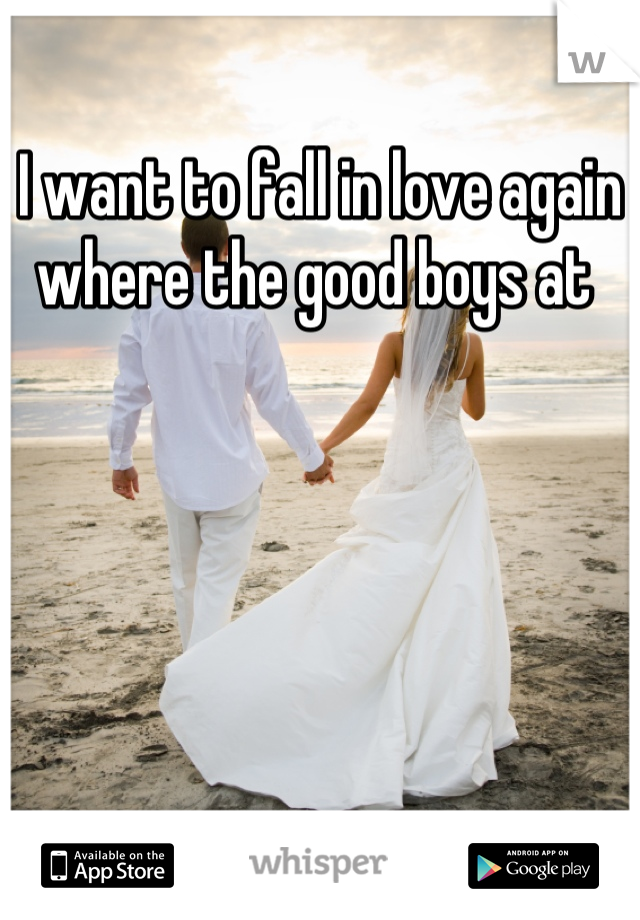 I want to fall in love again where the good boys at