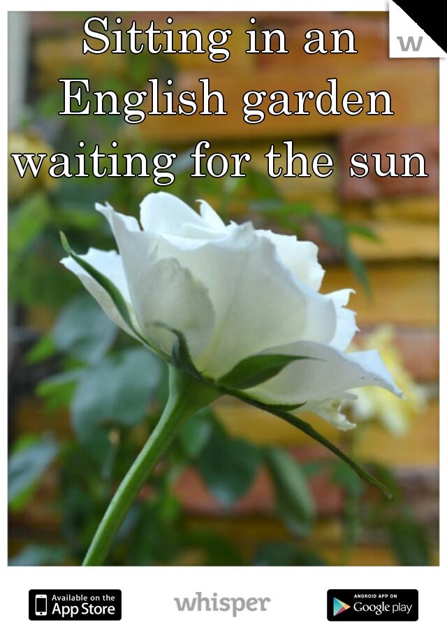Sitting in an English garden waiting for the sun