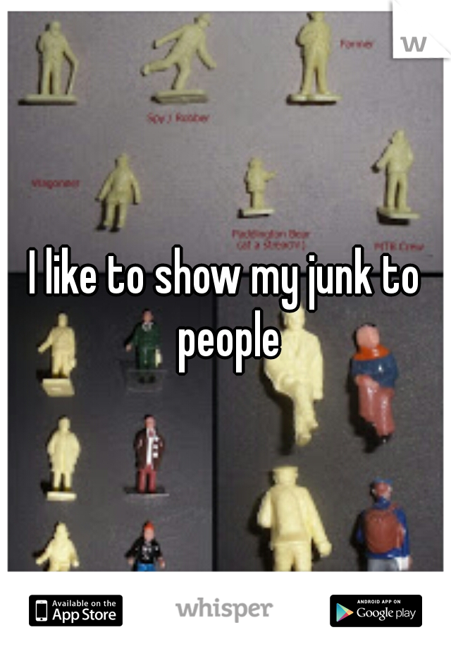 I like to show my junk to people