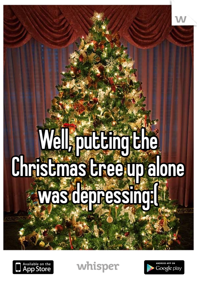 Well, putting the Christmas tree up alone was depressing:(