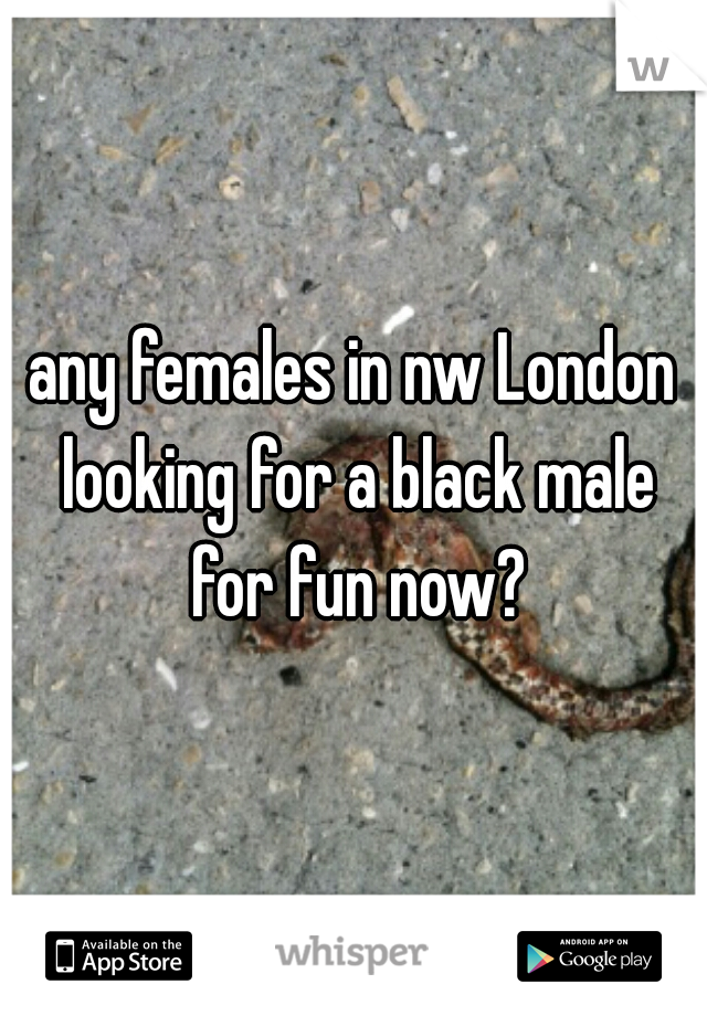 any females in nw London looking for a black male for fun now?