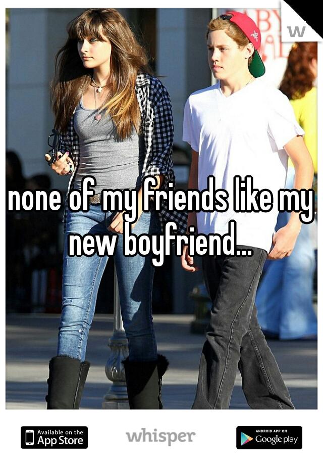 none of my friends like my new boyfriend...