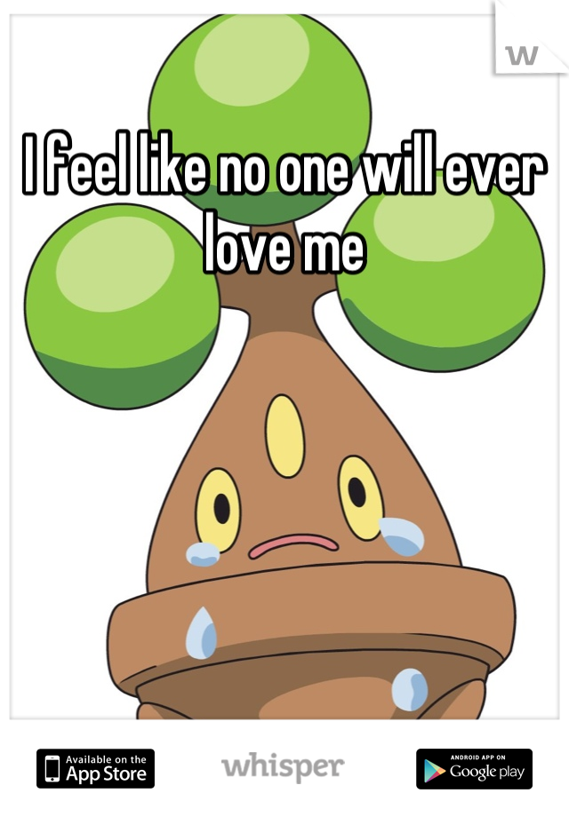I feel like no one will ever love me