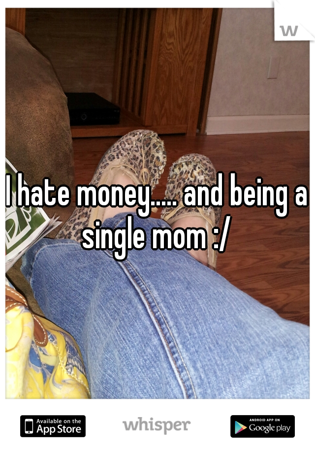 I hate money..... and being a single mom :/
