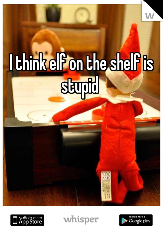 I think elf on the shelf is stupid