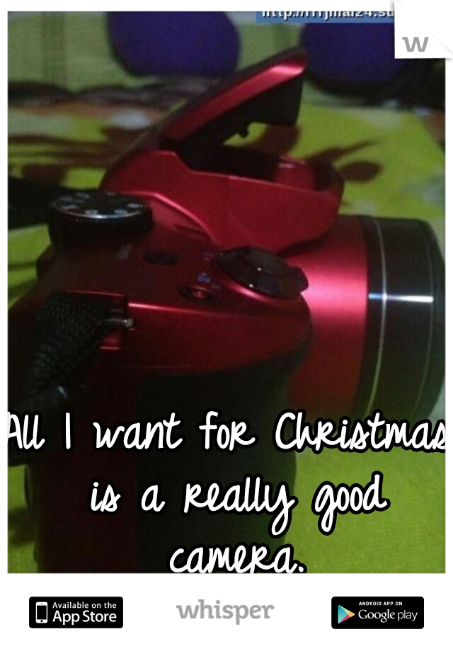 All I want for Christmas is a really good camera.