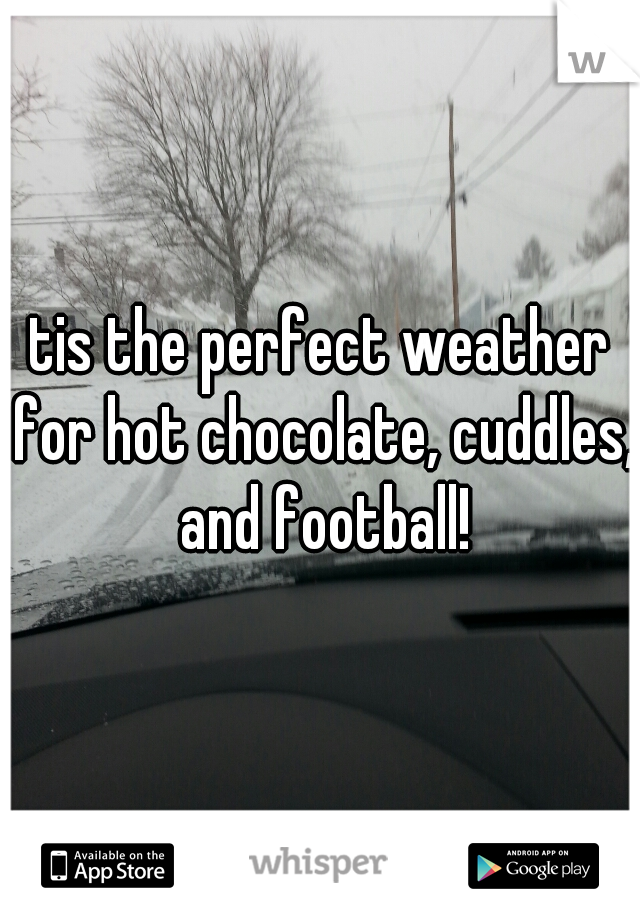 tis the perfect weather for hot chocolate, cuddles, and football!