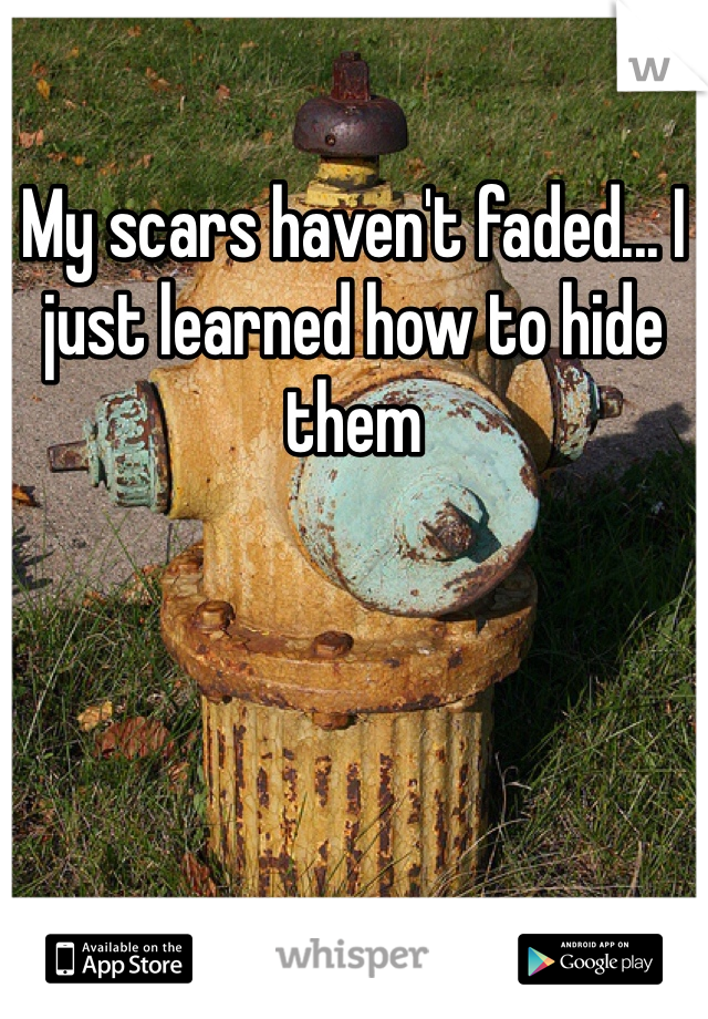 My scars haven't faded... I just learned how to hide them