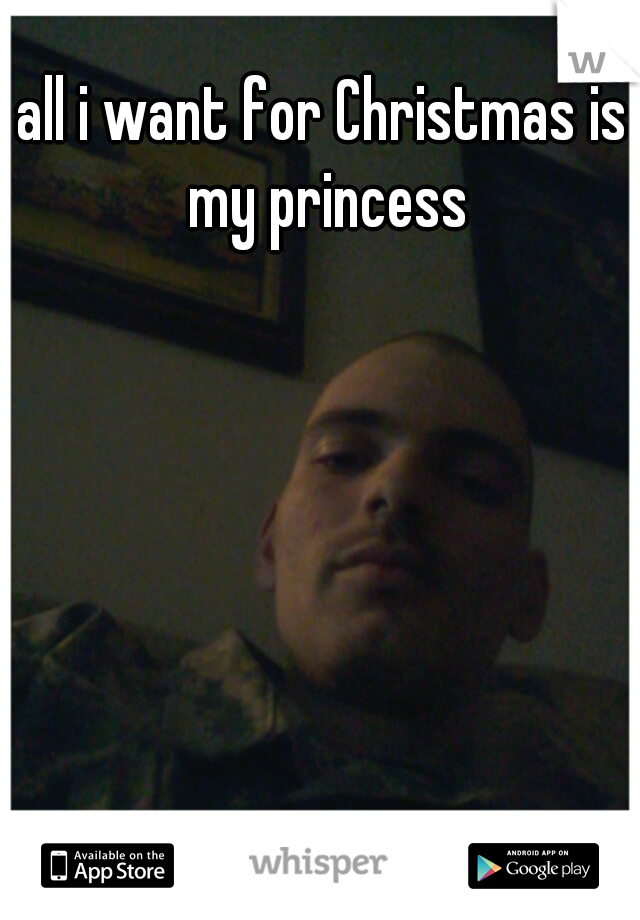 all i want for Christmas is my princess