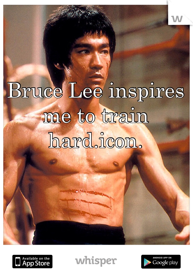 Bruce Lee inspires me to train hard.icon.