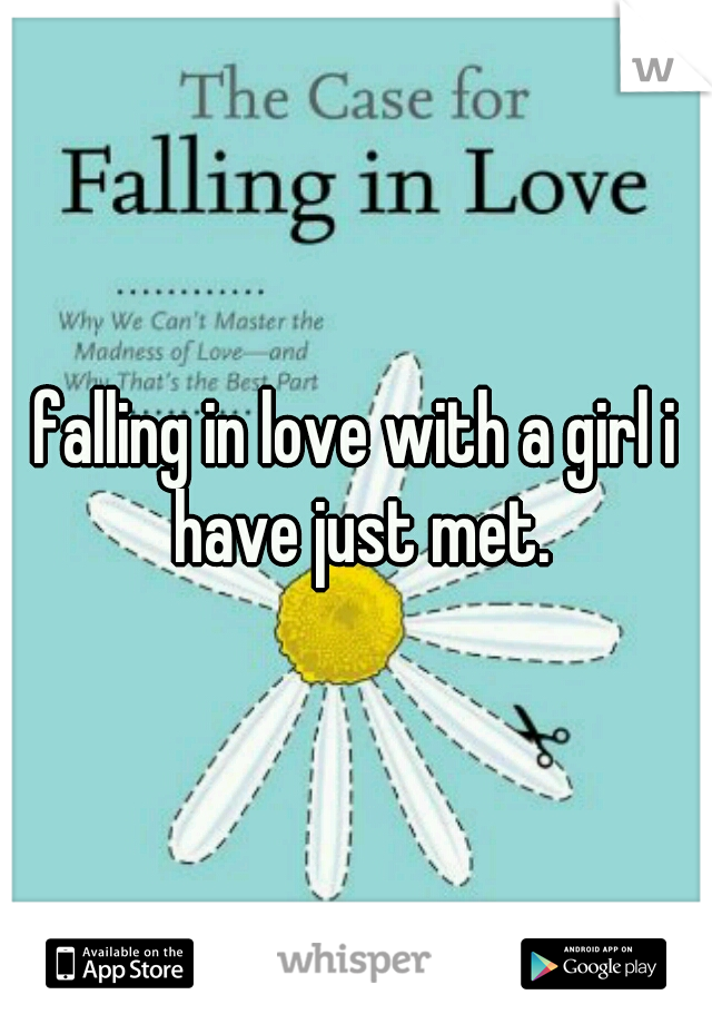 falling in love with a girl i have just met.