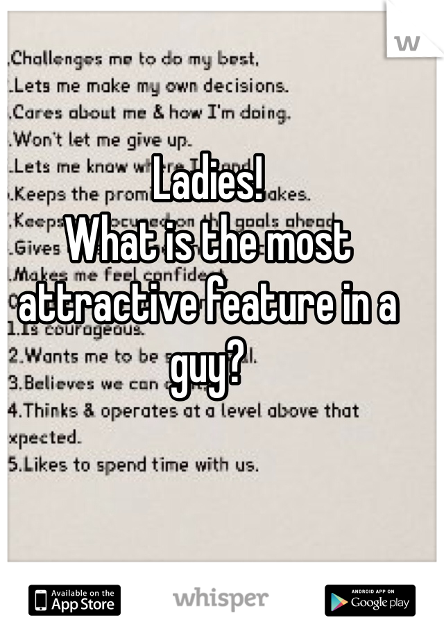 Ladies! What is the most attractive feature in a guy?