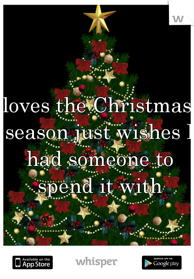 loves the Christmas season just wishes I had someone to spend it with