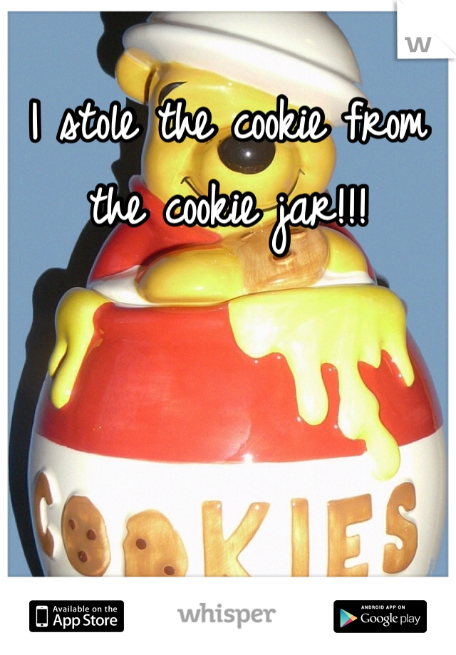I stole the cookie from the cookie jar!!!