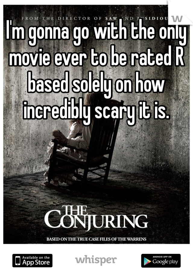 I'm gonna go with the only movie ever to be rated R based solely on how incredibly scary it is.