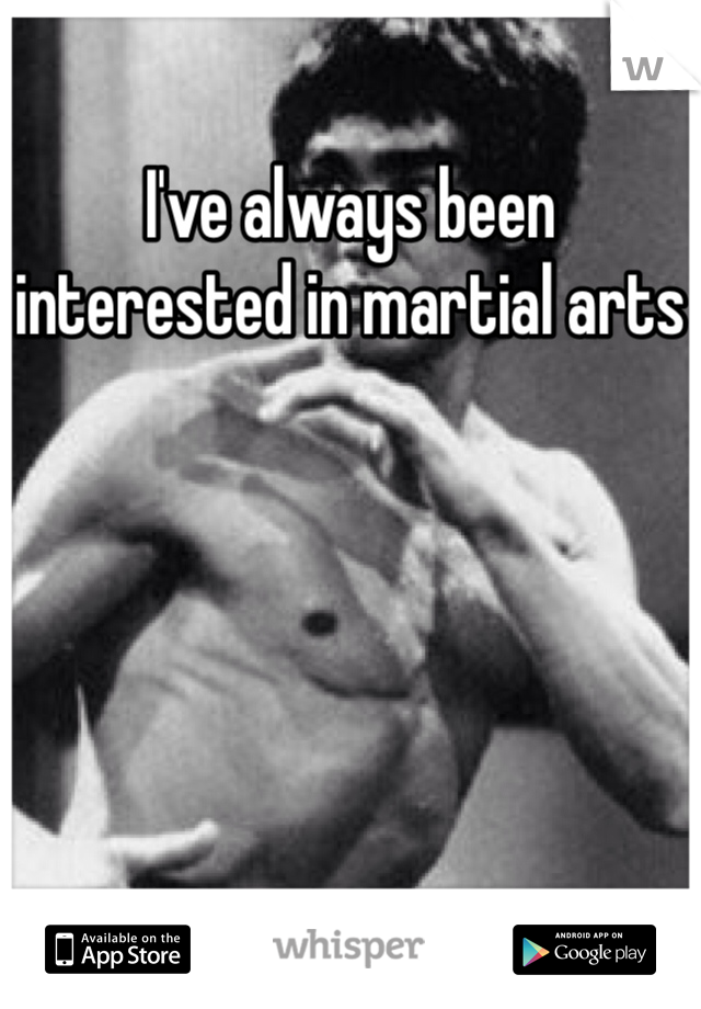 I've always been interested in martial arts