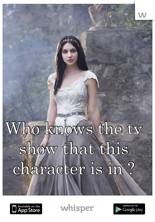 Who knows the tv show that this character is in ?