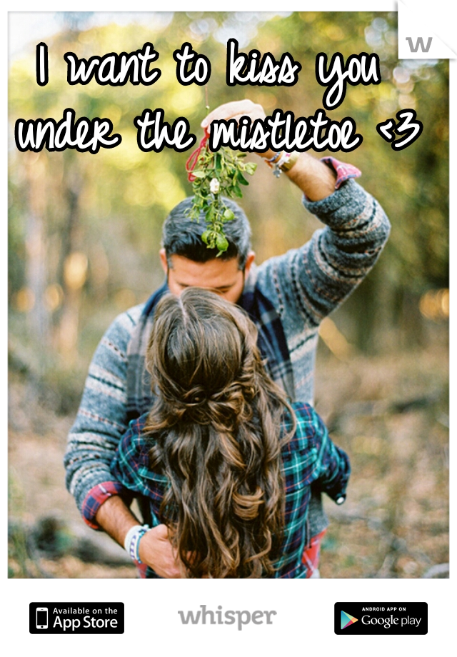 I want to kiss you under the mistletoe <3