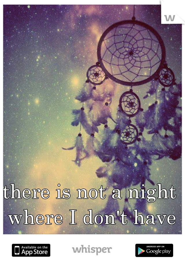 there is not a night where I don't have a strange dream.