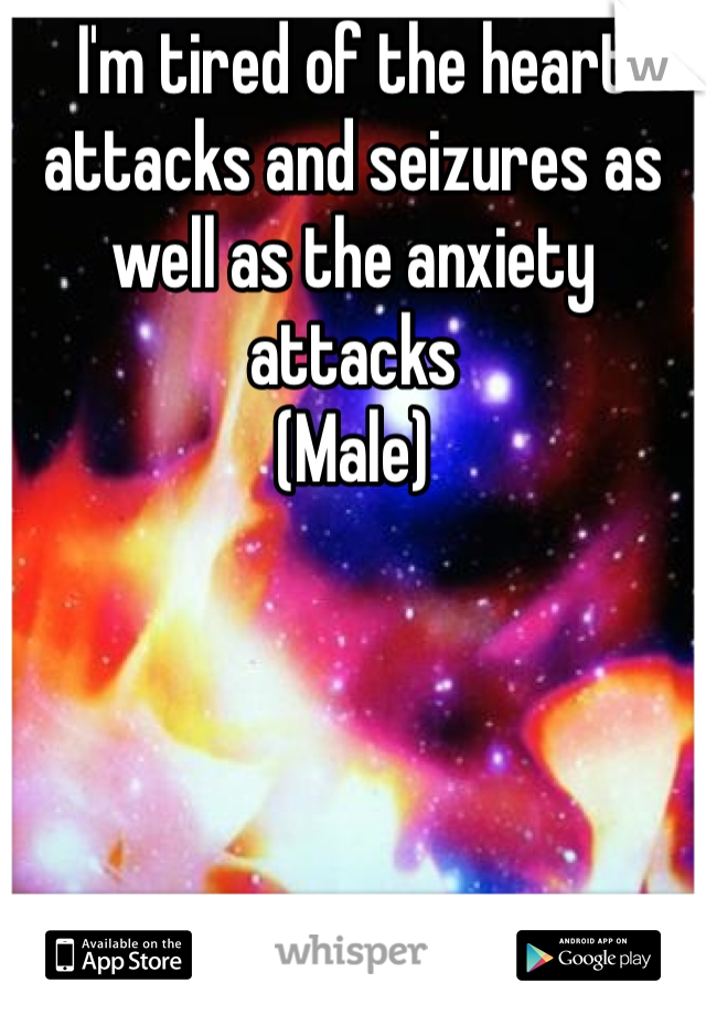 I'm tired of the heart attacks and seizures as well as the anxiety attacks (Male)