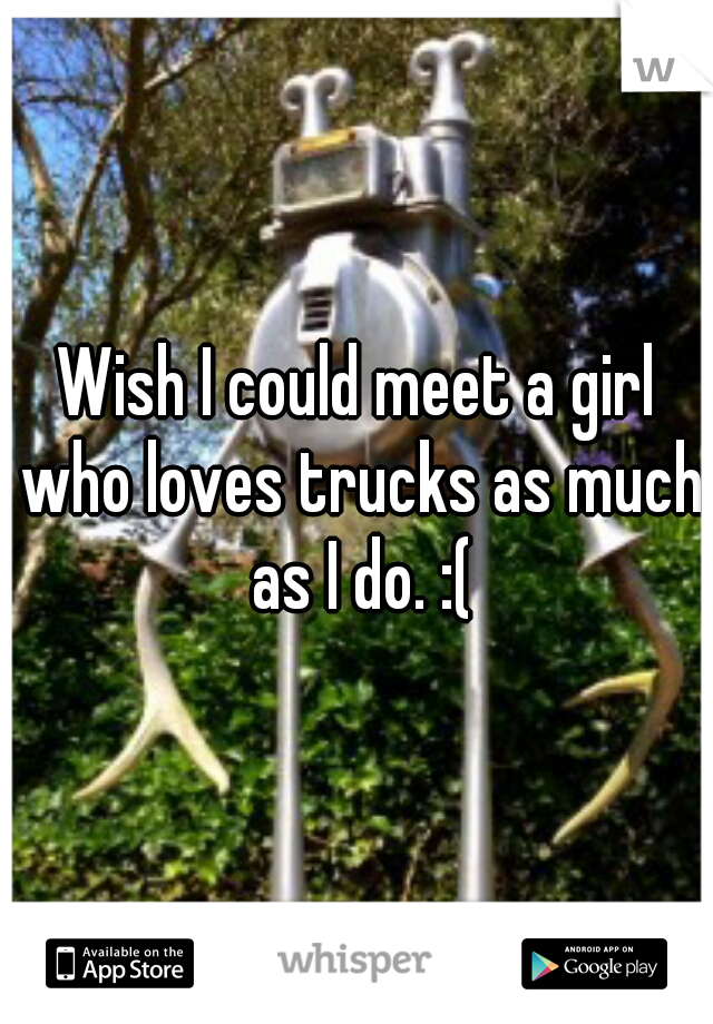 Wish I could meet a girl who loves trucks as much as I do. :(