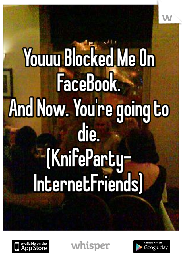 Youuu Blocked Me On FaceBook.  And Now. You're going to die.  (KnifeParty-InternetFriends)