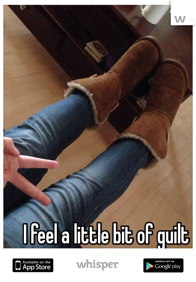 I feel a little bit of guilt knowing I own uggs