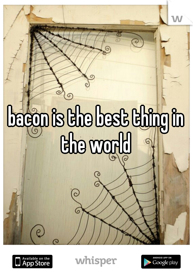 bacon is the best thing in the world