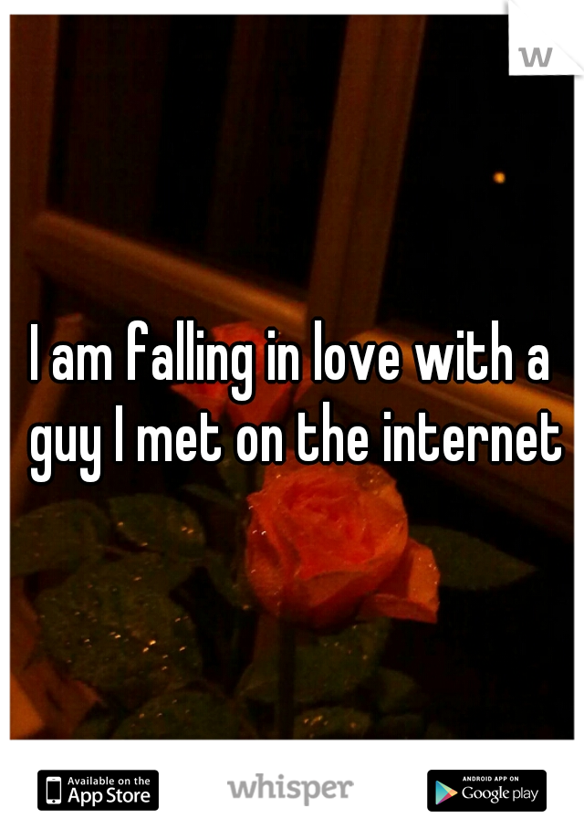 I am falling in love with a guy I met on the internet